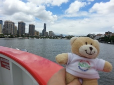 on the ferry in Brisbane