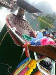 Looking forward to a ride on the traditional Thai boat