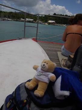 On the Whitsundays boat