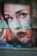 face and eye graffiti Melbourne