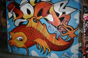 Fish graffiti melbourne