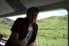 Him, enjoying the views