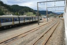 Scenic railway train passing