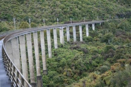 Scenic railway viaduct train
