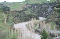 Scenic railway winding river