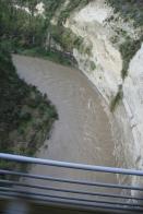 Scenic railway river bed