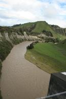 Scenic railway river gorge
