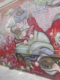 Turtle graffiti Melbourne