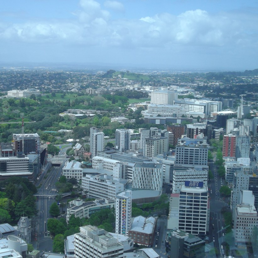 sky tower view across the city