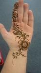 henna flower pattern
